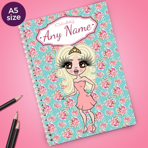 ClaireaBella Rose A5 Softback Notebook - Image 1