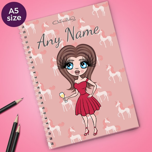 ClaireaBella Unicorn A5 Softback Notebook - Image 1