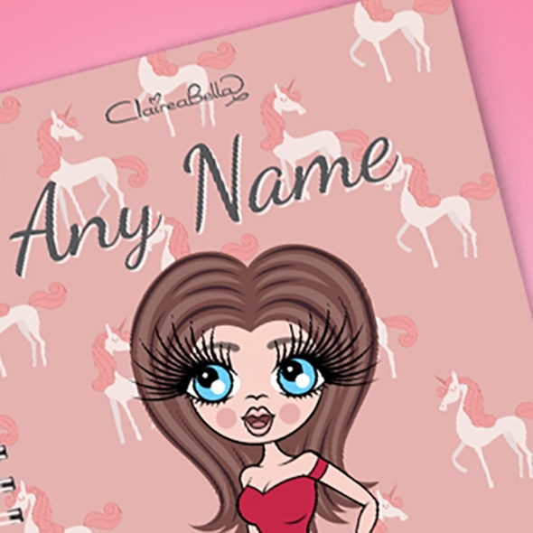 ClaireaBella Unicorn A5 Softback Notebook - Image 2
