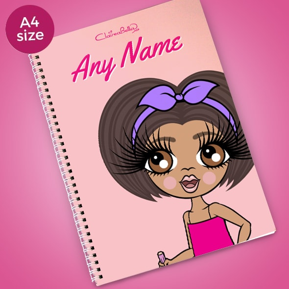ClaireaBella Girls Close Up A4 Softback Notebook - Image 1