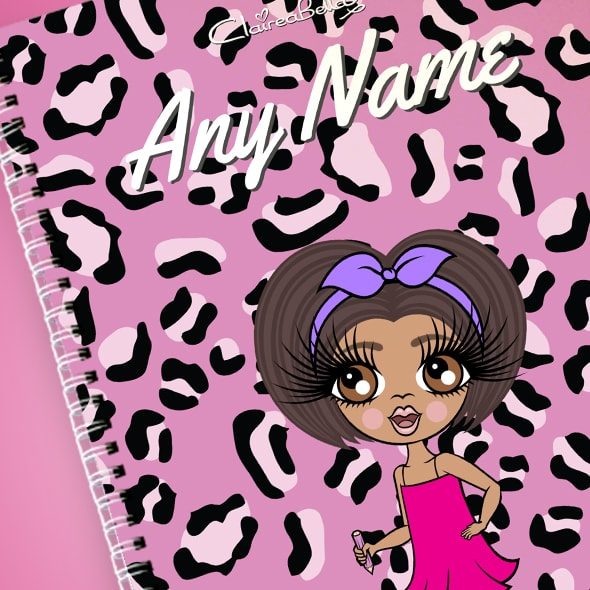 ClaireaBella Girls Lilac Leopard A4 Softback Notebook - Image 2