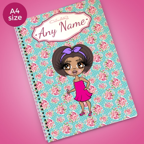 ClaireaBella Girls Rose A4 Softback Notebook - Image 1