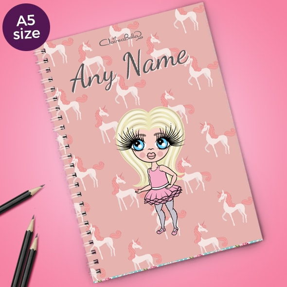 ClaireaBella Girls Unicorn A5 Softback Notebook - Image 1