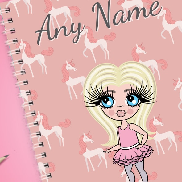 ClaireaBella Girls Unicorn A5 Softback Notebook - Image 2