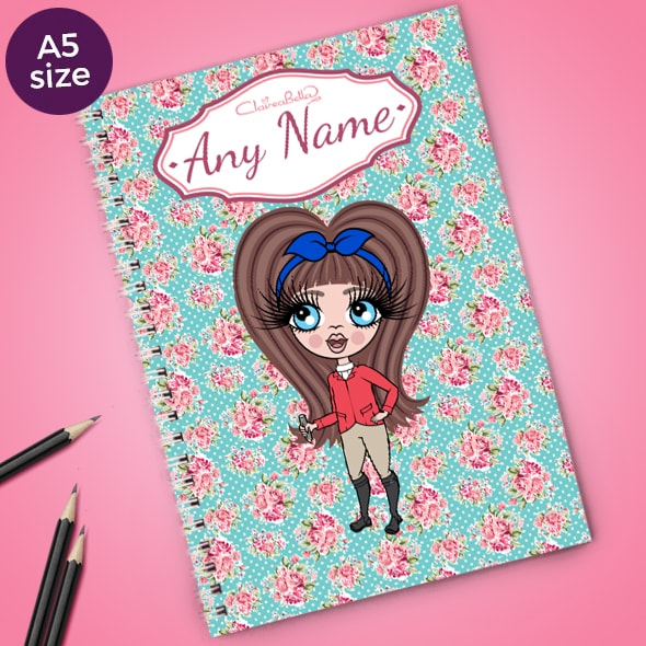 ClaireaBella Girls Rose A5 Softback Notebook - Image 1