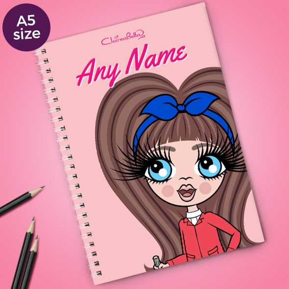 ClaireaBella Girls Close Up A5 Softback Notebook - Image 1