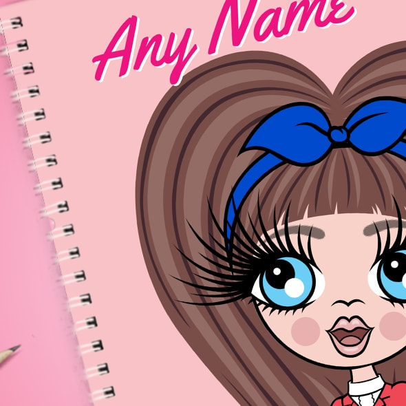 ClaireaBella Girls Close Up A5 Softback Notebook - Image 2