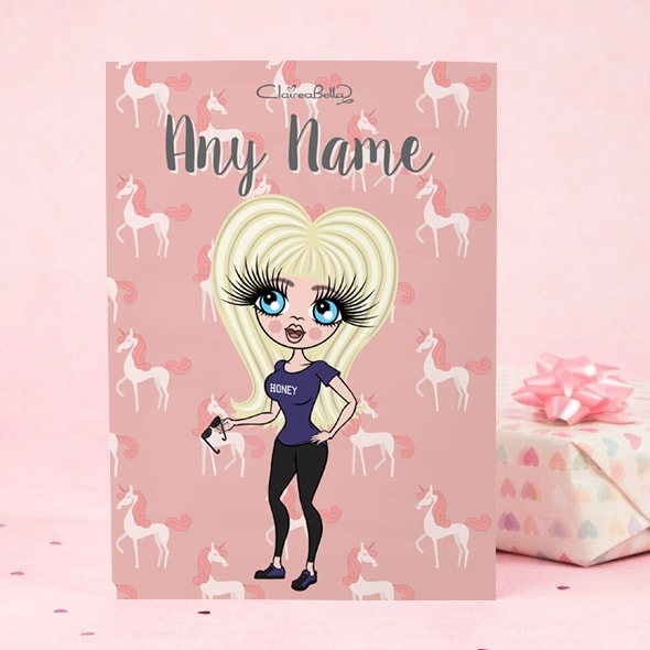 ClaireaBella Greeting Card - Unicorn - Image 1