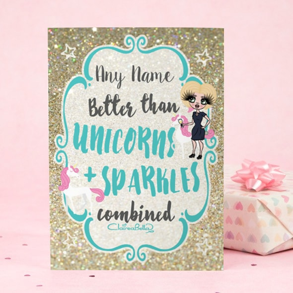 ClaireaBella Greeting Card - Unicorn and Sparkle - Image 1