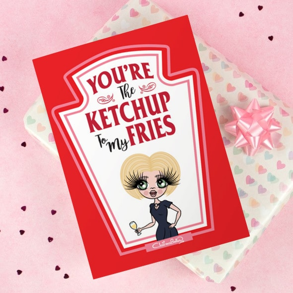 ClaireaBella Greeting Card - Ketchup to my Fries - Image 1