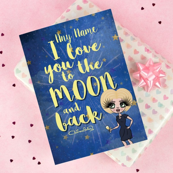 ClaireaBella Greeting Card - Love you to the Moon - Image 1
