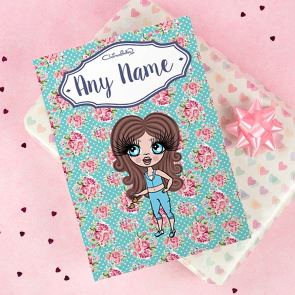 ClaireaBella Girls Greeting Card - Rose - Image 1