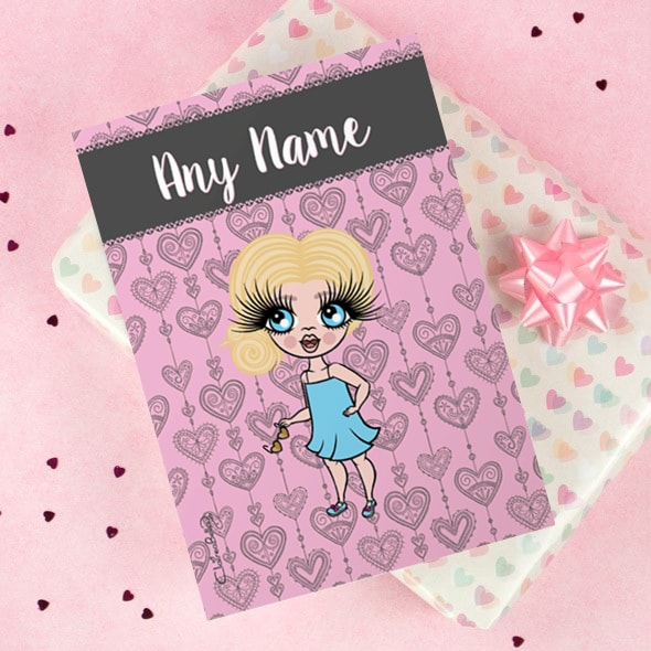 ClaireaBella Girls Greeting Card - Boho Heart - Image 1
