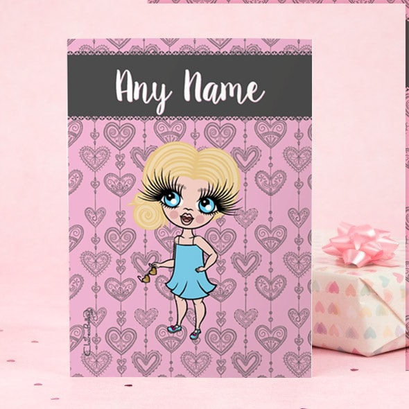 ClaireaBella Girls Greeting Card - Boho Heart - Image 2