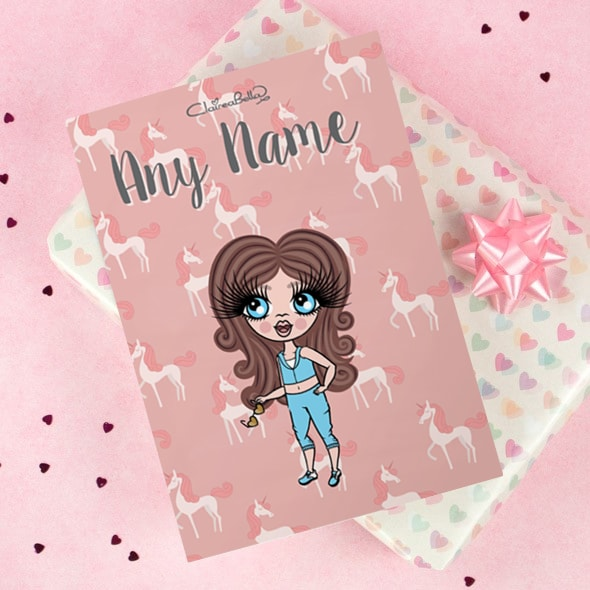 ClaireaBella Girls Greeting Card - Unicorn - Image 1