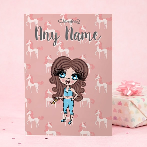 ClaireaBella Girls Greeting Card - Unicorn - Image 2