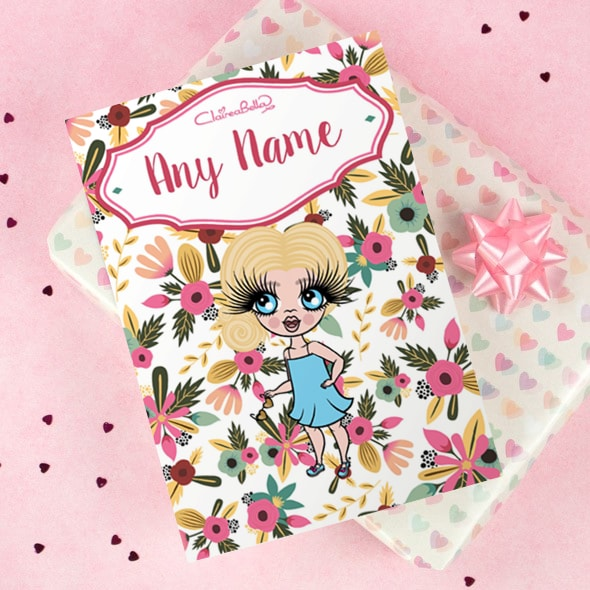 ClaireaBella Girls Greeting Card - Classic Floral - Image 1