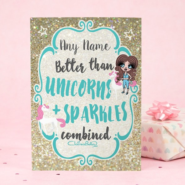 ClaireaBella Girls Greeting Card - Unicorn and Sparkle - Image 2