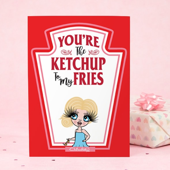 ClaireaBella Girls Greeting Card - Ketchup to my Fries - Image 1