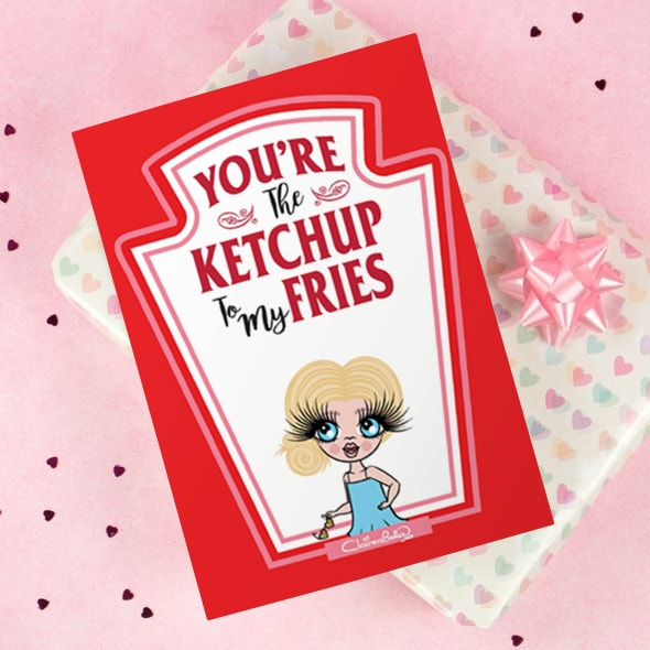 ClaireaBella Girls Greeting Card - Ketchup to my Fries - Image 2