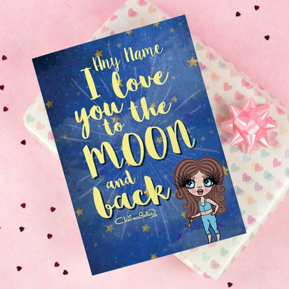 ClaireaBella Girls Greeting Card - Love you to the Moon - Image 1