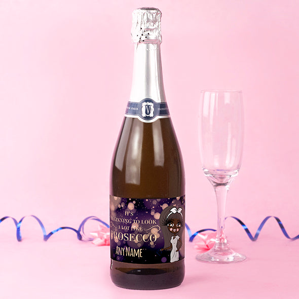 ClaireaBella Personalised Prosecco - Snowfall Sparkle - Image 1