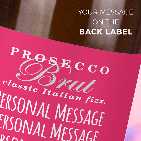 ClaireaBella Personalised Prosecco - Classic Floral - Image 3