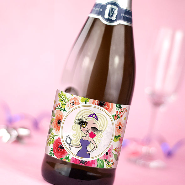 ClaireaBella Personalised Prosecco - Classic Floral - Image 2