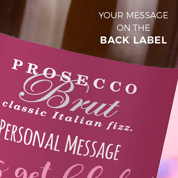 ClaireaBella Personalised Prosecco - Giant Glitter Effect Birthday Fizz - Image 3