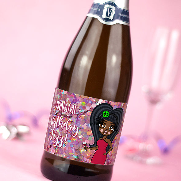 ClaireaBella Personalised Prosecco - Giant Glitter Effect Birthday Fizz - Image 2