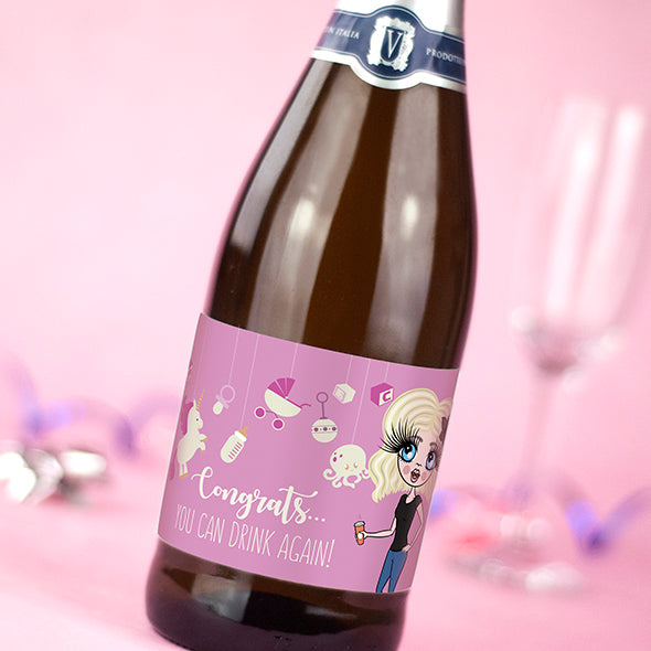 ClaireaBella Personalised Prosecco - Baby Girl - Image 2