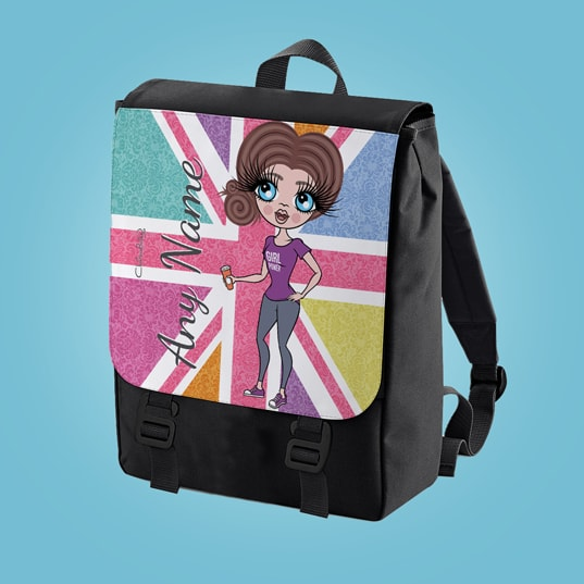 ClaireaBella Union Jack Large Backpack - Image 1