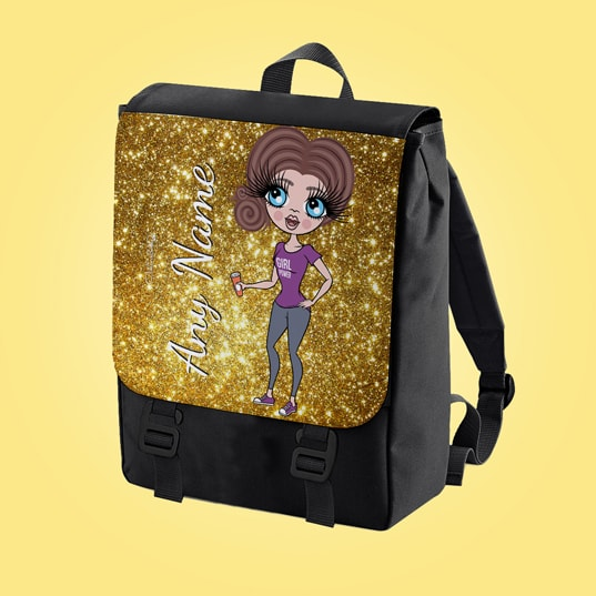 ClaireaBella Glitter Effect Print Large Backpack - Image 6
