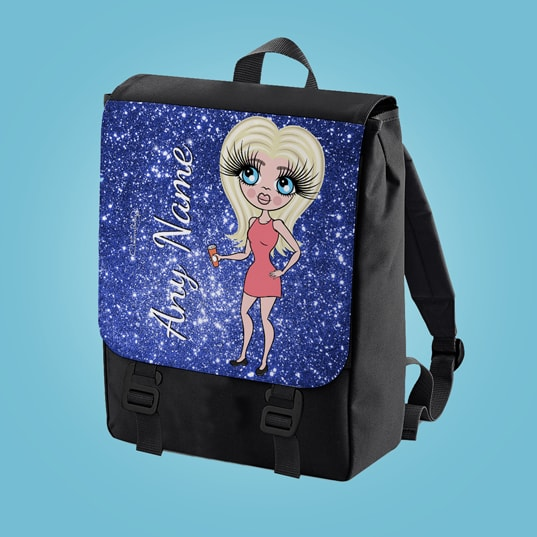 ClaireaBella Glitter Effect Print Large Backpack - Image 4