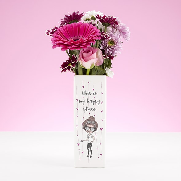 ClaireaBella Ceramic Vase - Happy Place - Image 1