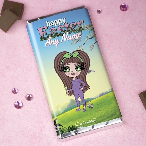 ClaireaBella Girls Easter Chocolate Bar - Image 1