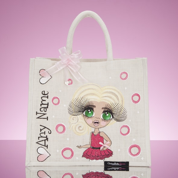 ClaireaBella Girls Large Jute Bag - Pearl - Image 1