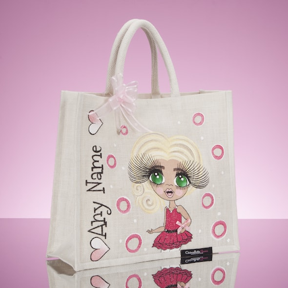 ClaireaBella Girls Large Jute Bag - Pearl - Image 2
