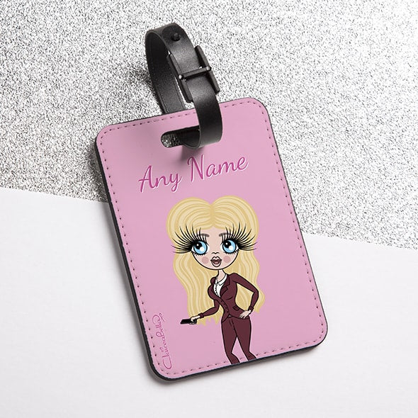 ClaireaBella Pastel Pink Luggage Tag - Image 1