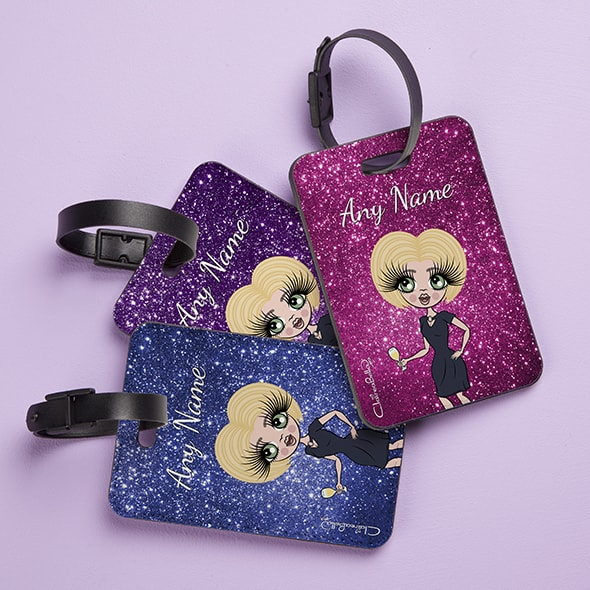 ClaireaBella Glitter Effect Luggage Tag - Image 1