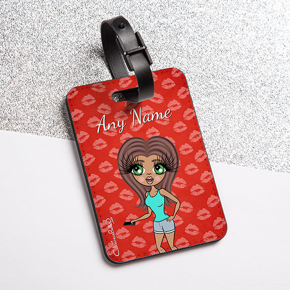 ClaireaBella Lip Print Luggage Tag - Image 1