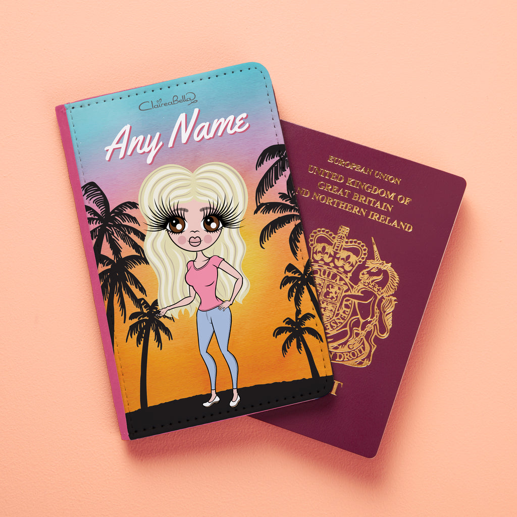 ClaireaBella Tropical Sunset Passport Cover - Image 1