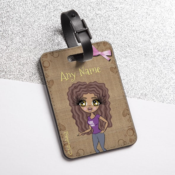 ClaireaBella Jute Print Luggage Tag - Image 1