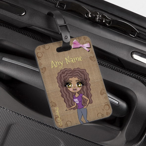 ClaireaBella Jute Print Luggage Tag - Image 2