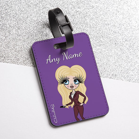 ClaireaBella Purple Luggage Tag - Image 1