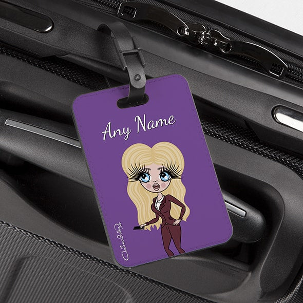 ClaireaBella Purple Luggage Tag - Image 2