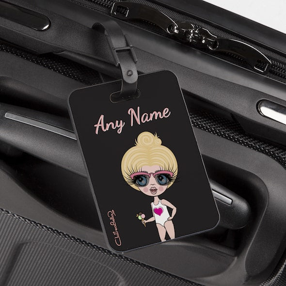 ClaireaBella Girls Black Luggage Tag - Image 1