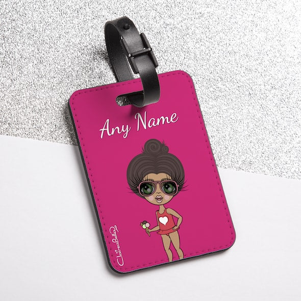 ClaireaBella Girls Hot Pink Luggage Tag - Image 2