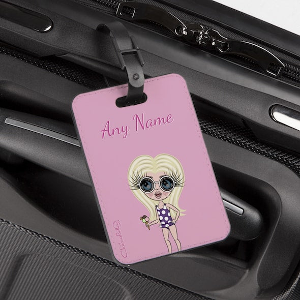 ClaireaBella Girls Pastel Pink Luggage Tag - Image 1