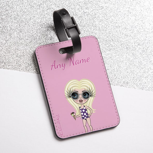 ClaireaBella Girls Pastel Pink Luggage Tag - Image 2